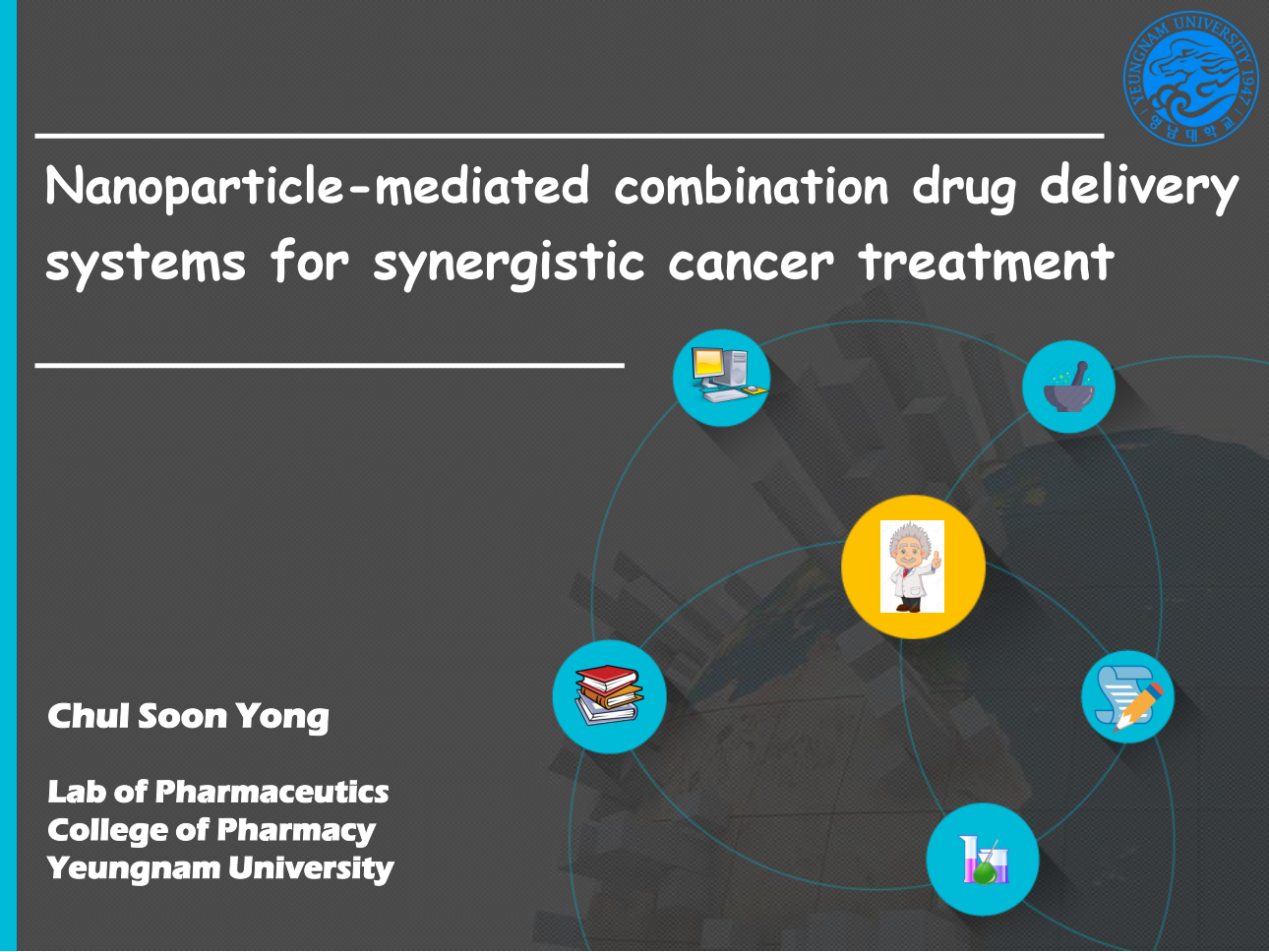 "Visiting Lecture ""Nanoparticle-mediated combination drug delivery  systems for synergistic cancer treatment"""
